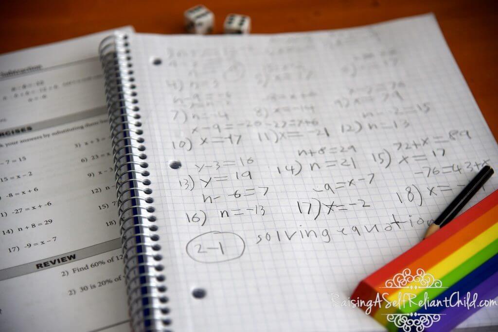 homeschool math no-nonsense algebra review
