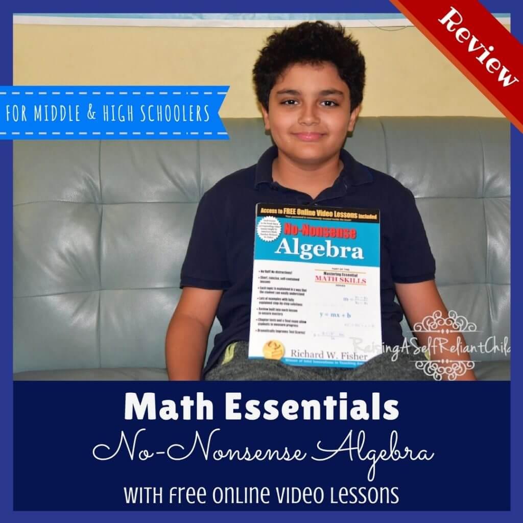 homeschool math no nonsense algebra review