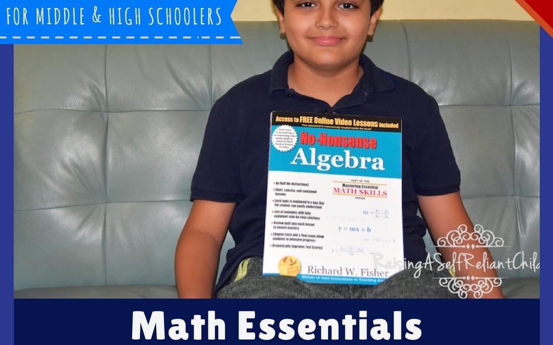 Homeschool Math: Math Essentials No-Nonsense Algebra Review